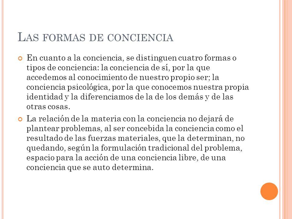 Las formas de conciencia