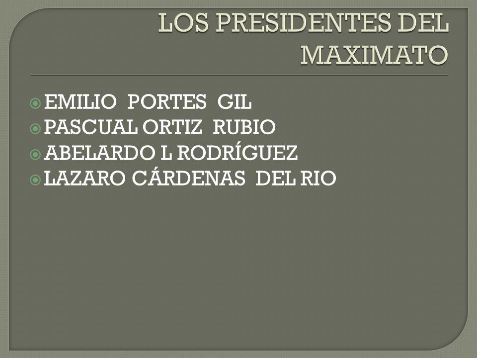 LOS PRESIDENTES DEL MAXIMATO