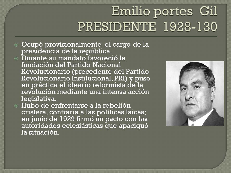 Emilio portes Gil PRESIDENTE 1928-130
