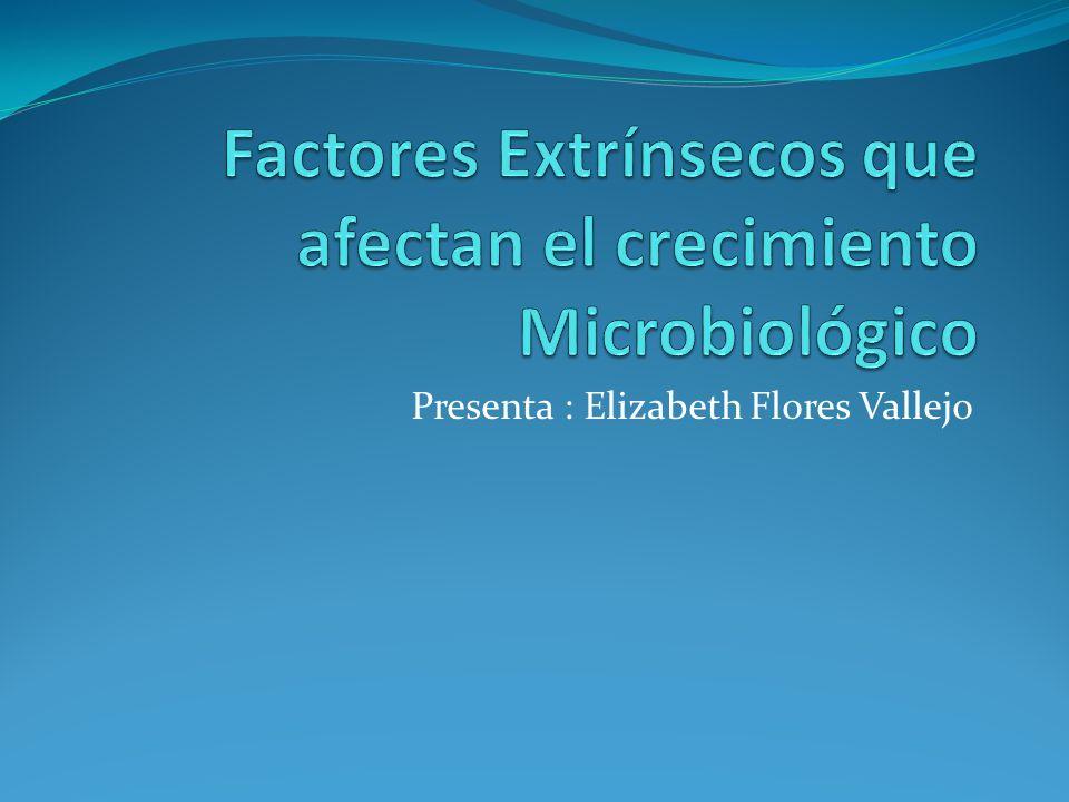 Factores Extrínsecos que afectan el crecimiento Microbiológico