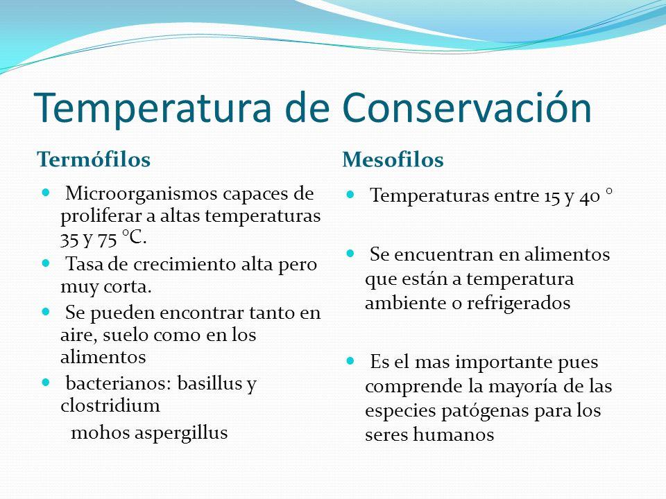 Temperatura de Conservación