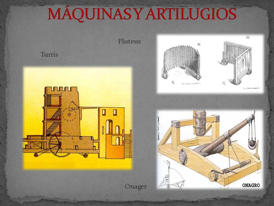 MÁQUINAS Y ARTILUGIOS Pluteus Turris Onager