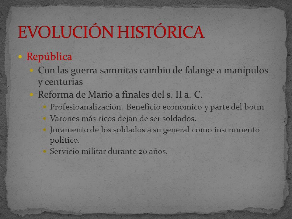 EVOLUCIÓN HISTÓRICA República