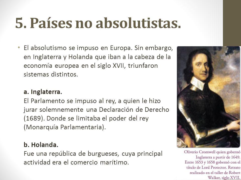 5. Países no absolutistas.
