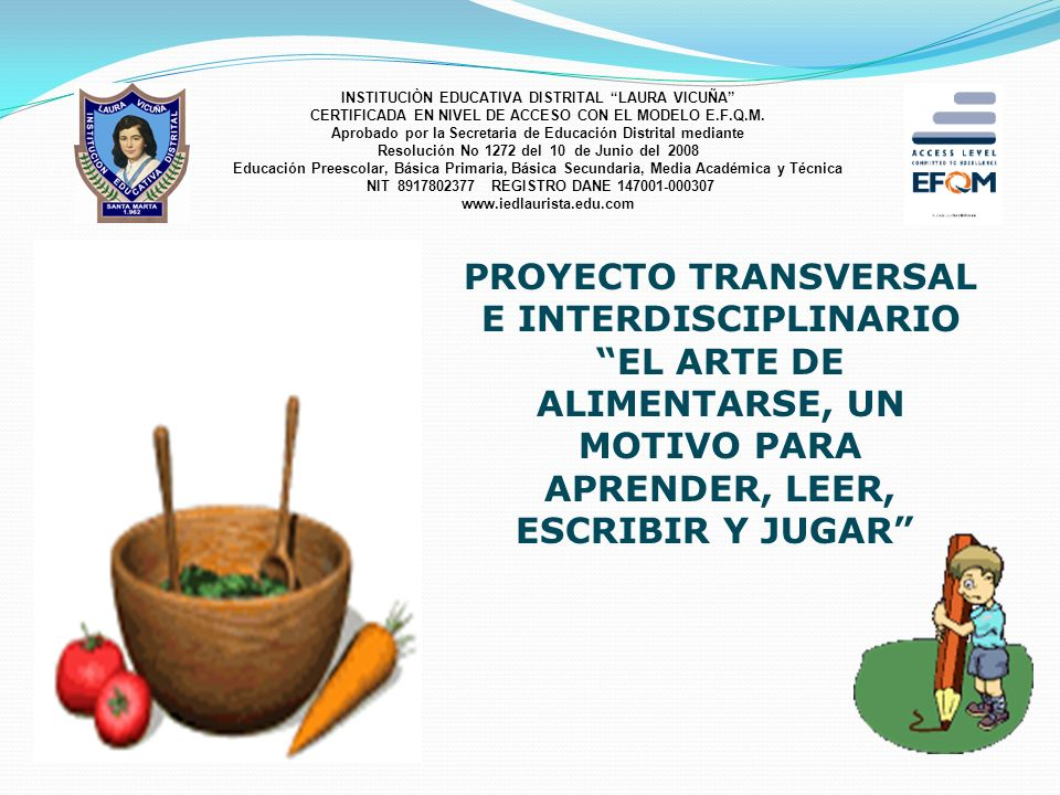 PROYECTO TRANSVERSAL E INTERDISCIPLINARIO