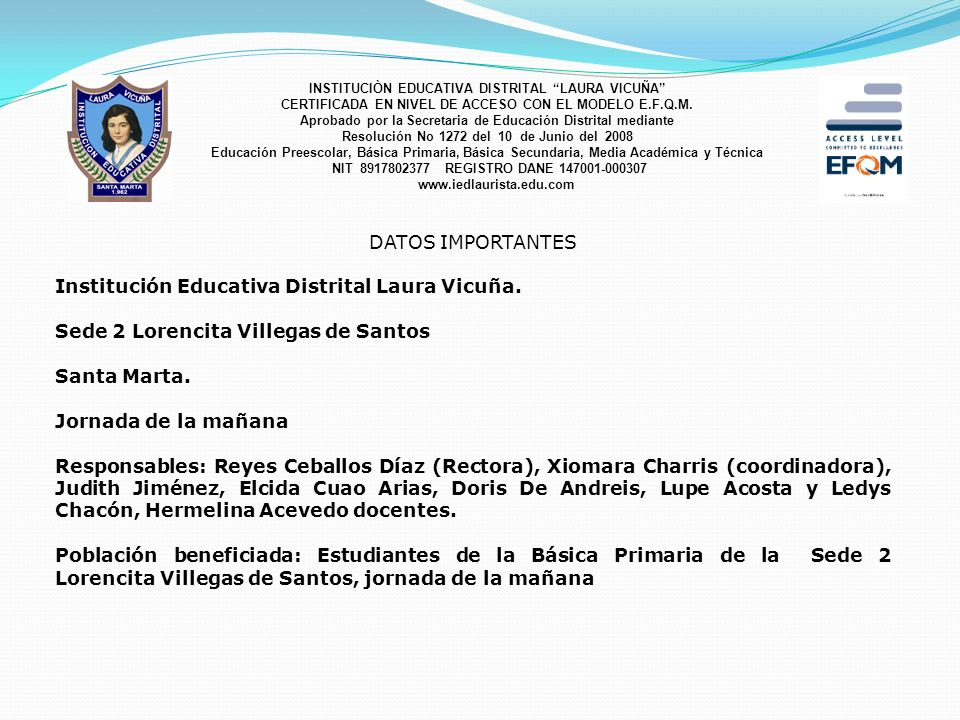 Institución Educativa Distrital Laura Vicuña.