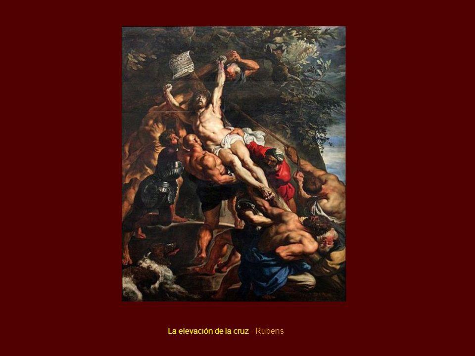 La elevación de la cruz - Rubens