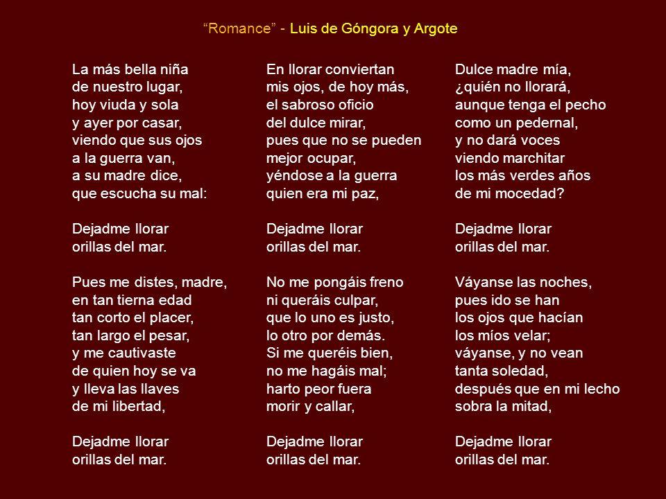 Romance - Luis de Góngora y Argote