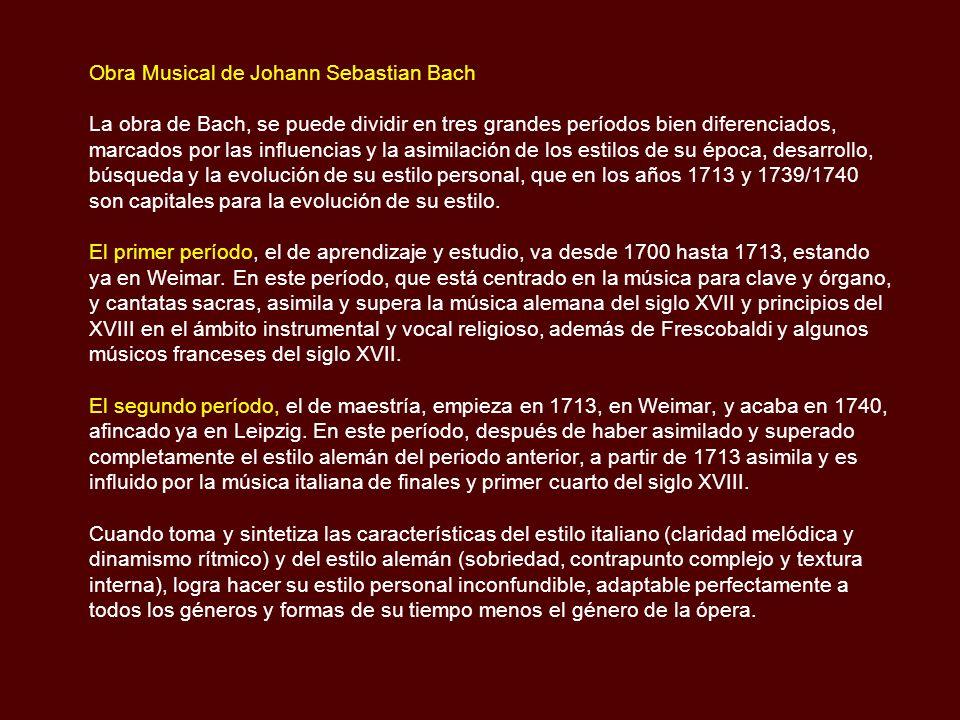 Obra Musical de Johann Sebastian Bach