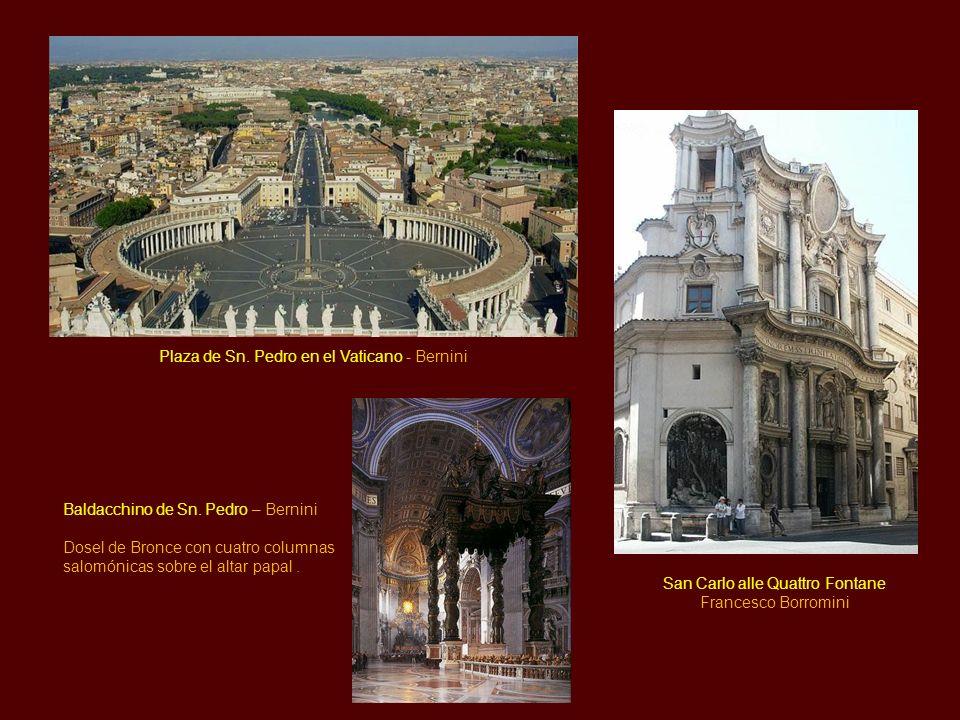 Plaza de Sn. Pedro en el Vaticano - Bernini