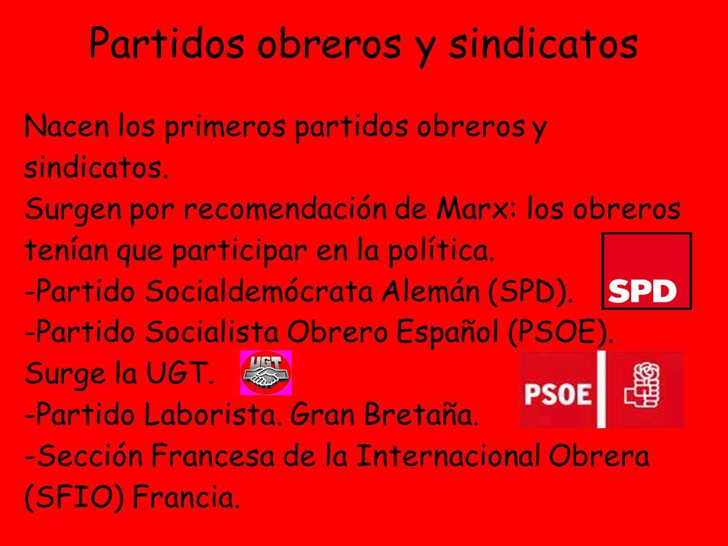 Partidos obreros y sindicatos