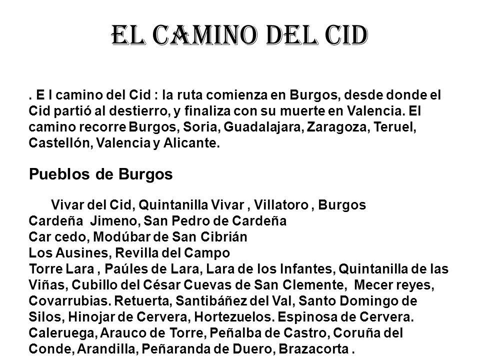 El camino del cid Pueblos de Burgos