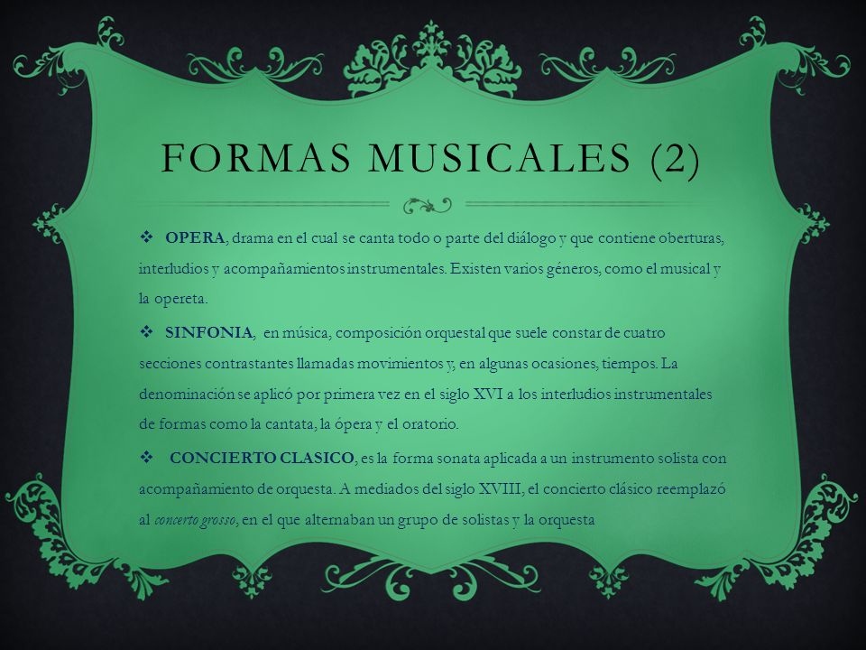 FORMAS MUSICALES (2)