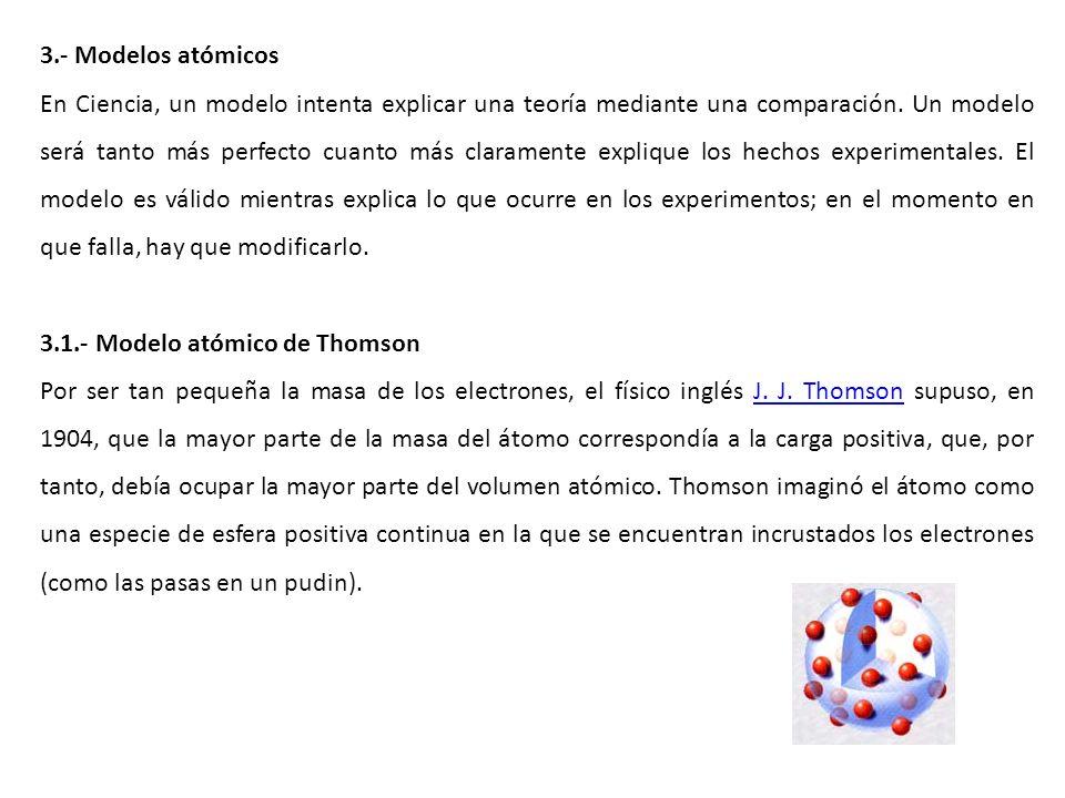 3.- Modelos atómicos