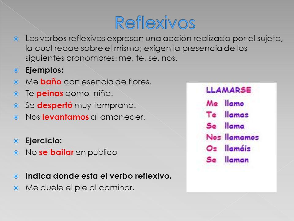 Reflexivos