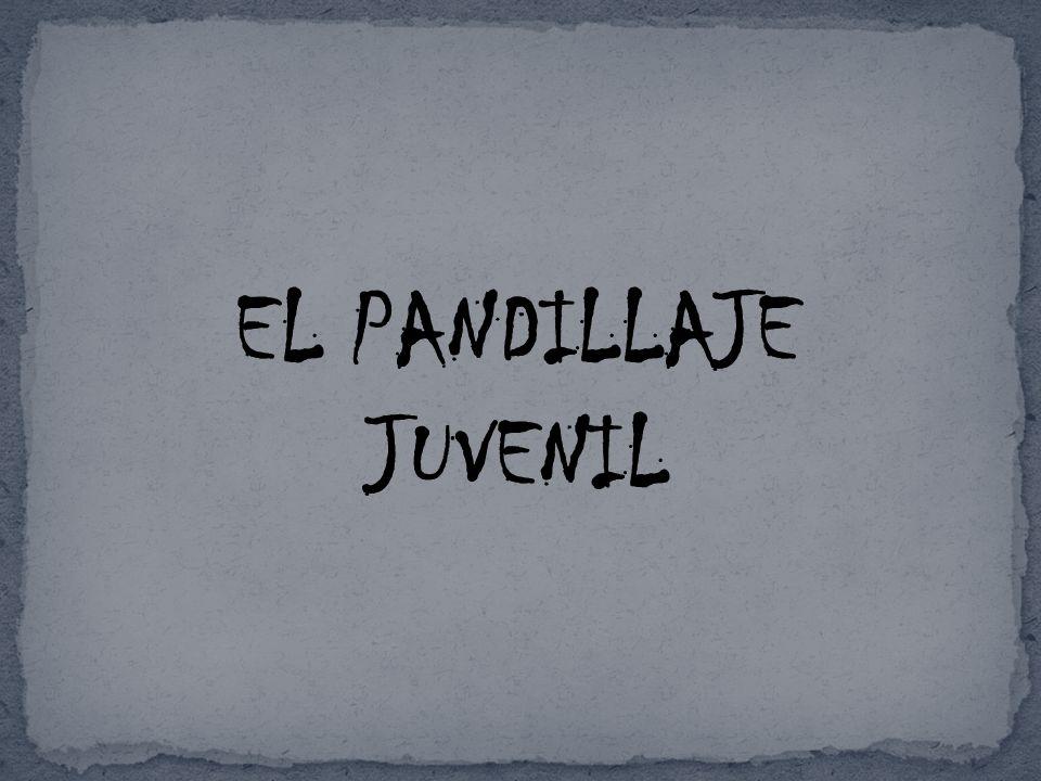 EL PANDILLAJE JUVENIL
