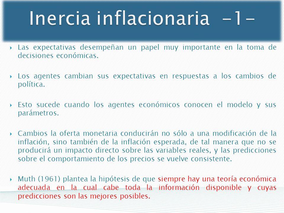 Inercia inflacionaria -1-
