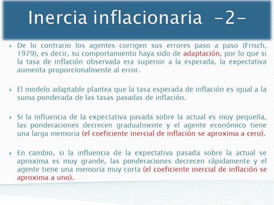 Inercia inflacionaria -2-