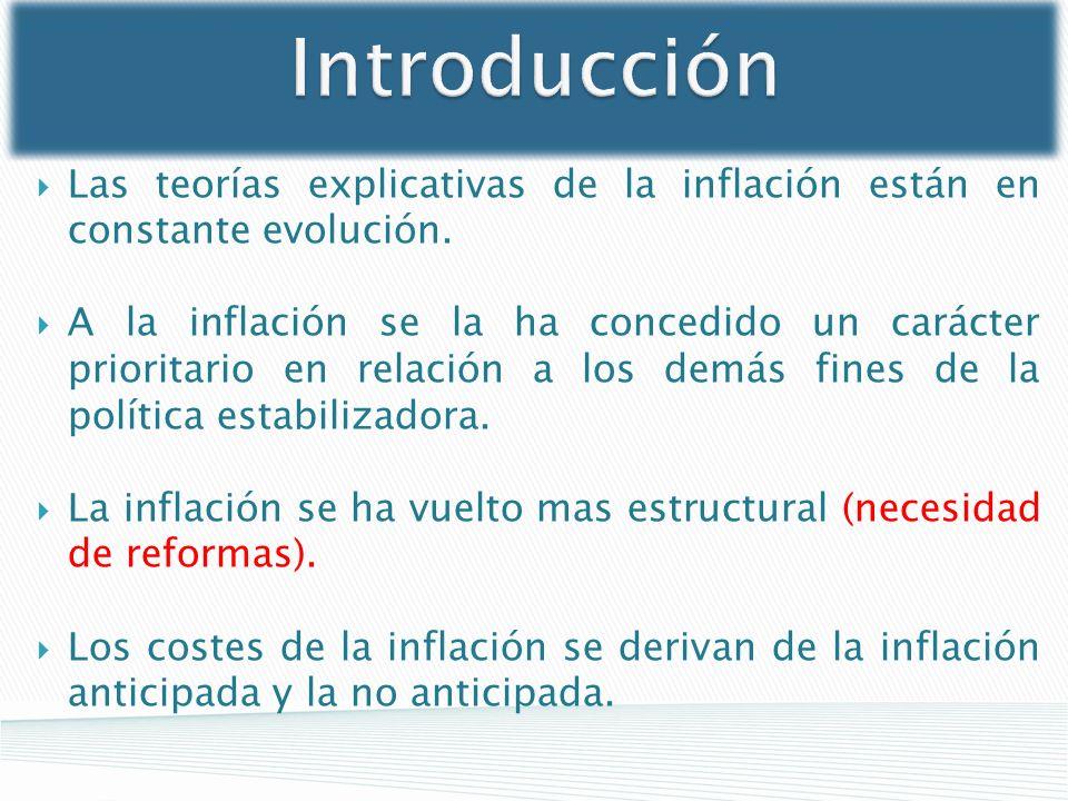 Introducción Las teorías explicativas de la inflación están en constante evolución.