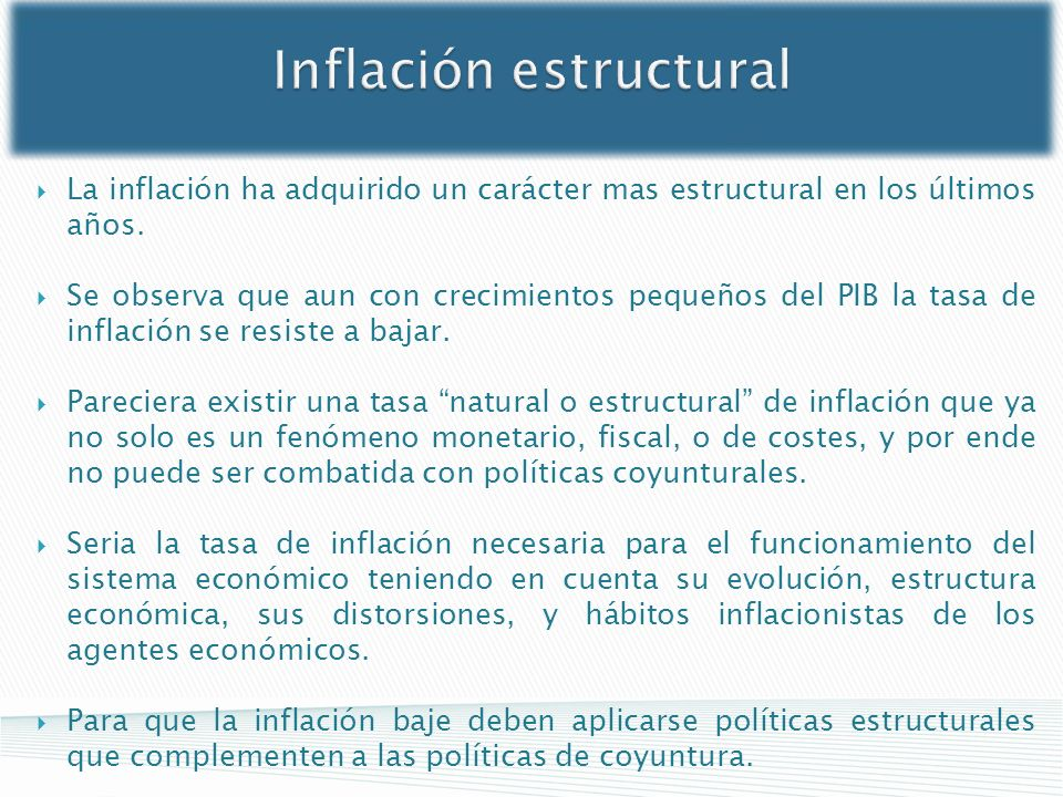 Inflación estructural