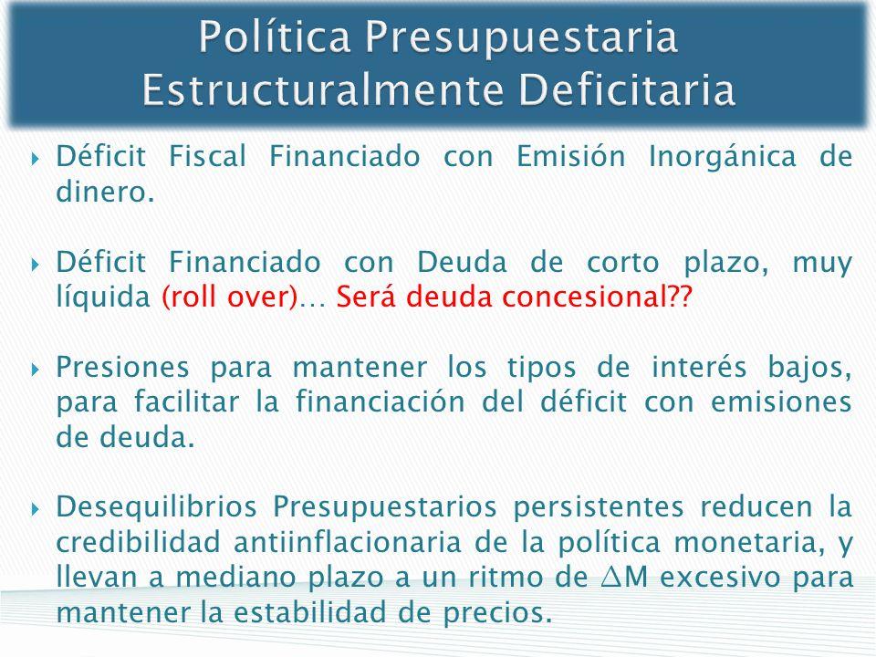 Política Presupuestaria Estructuralmente Deficitaria