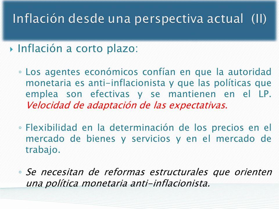 Inflación desde una perspectiva actual (II)
