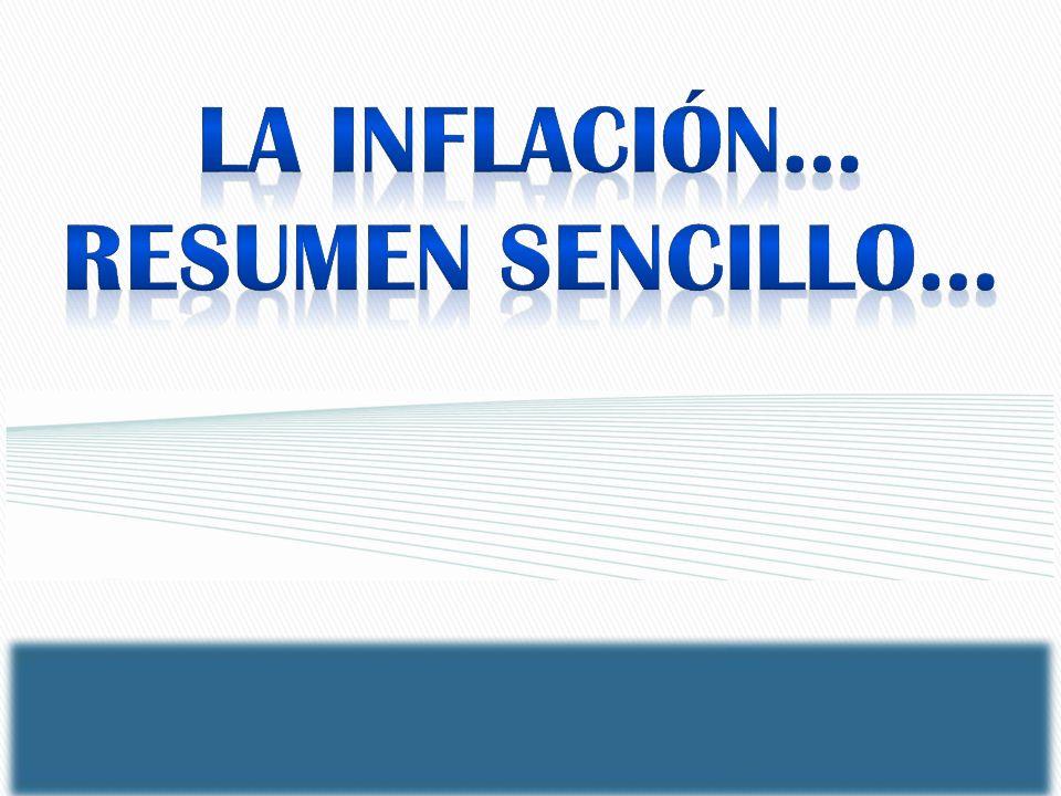 LA inflación… RESUMEN SENCILLO…