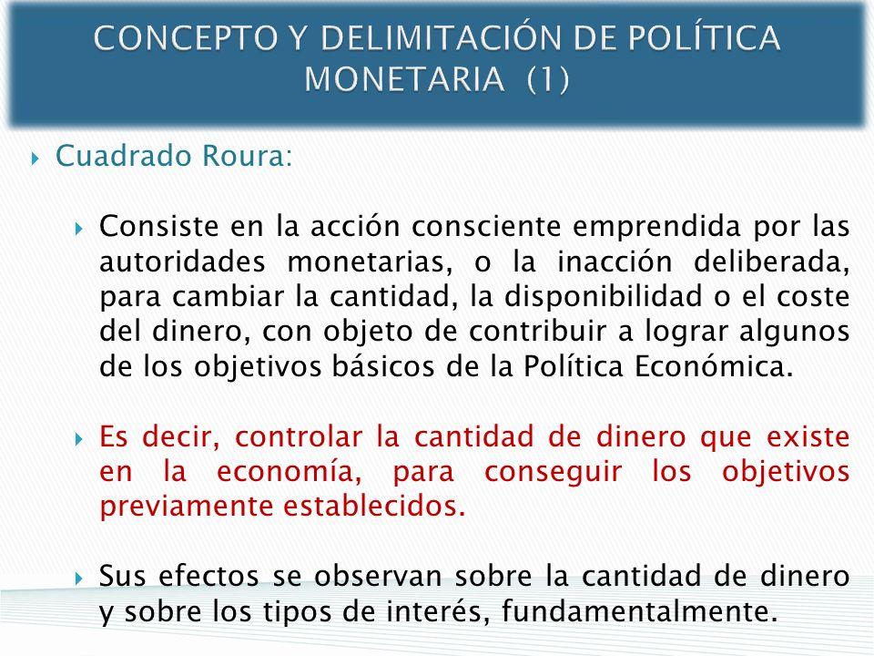 CONCEPTO Y DELIMITACIÓN DE POLÍTICA MONETARIA (1)