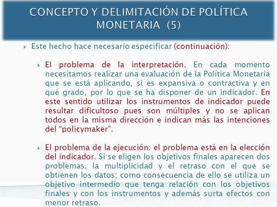 CONCEPTO Y DELIMITACIÓN DE POLÍTICA MONETARIA (5)