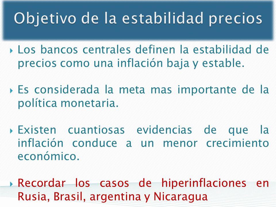 Objetivo de la estabilidad precios