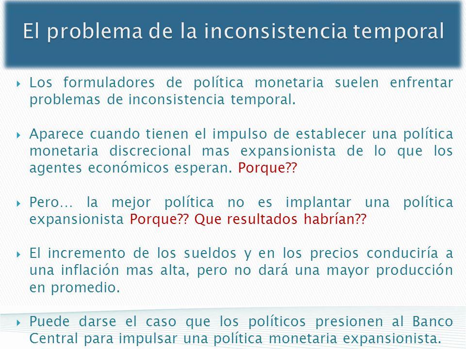 El problema de la inconsistencia temporal