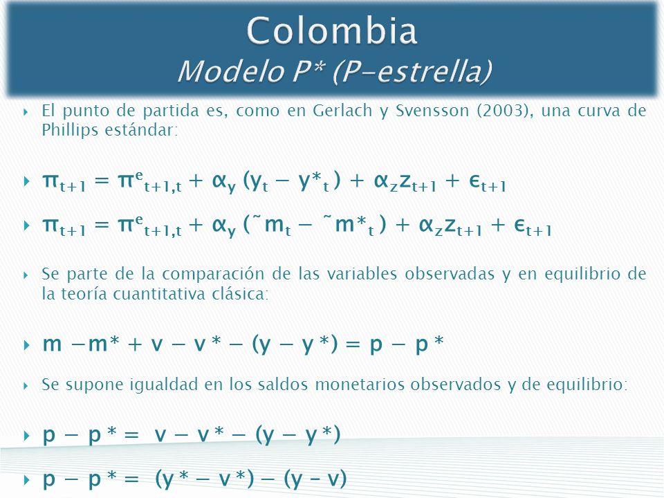 Colombia Modelo P* (P-estrella)