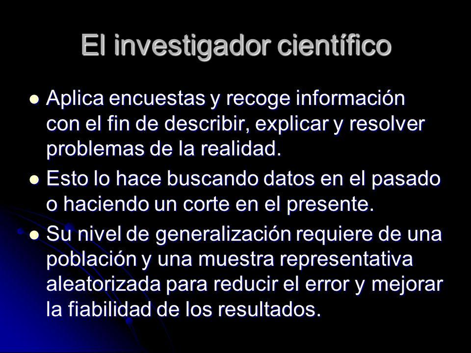El investigador científico