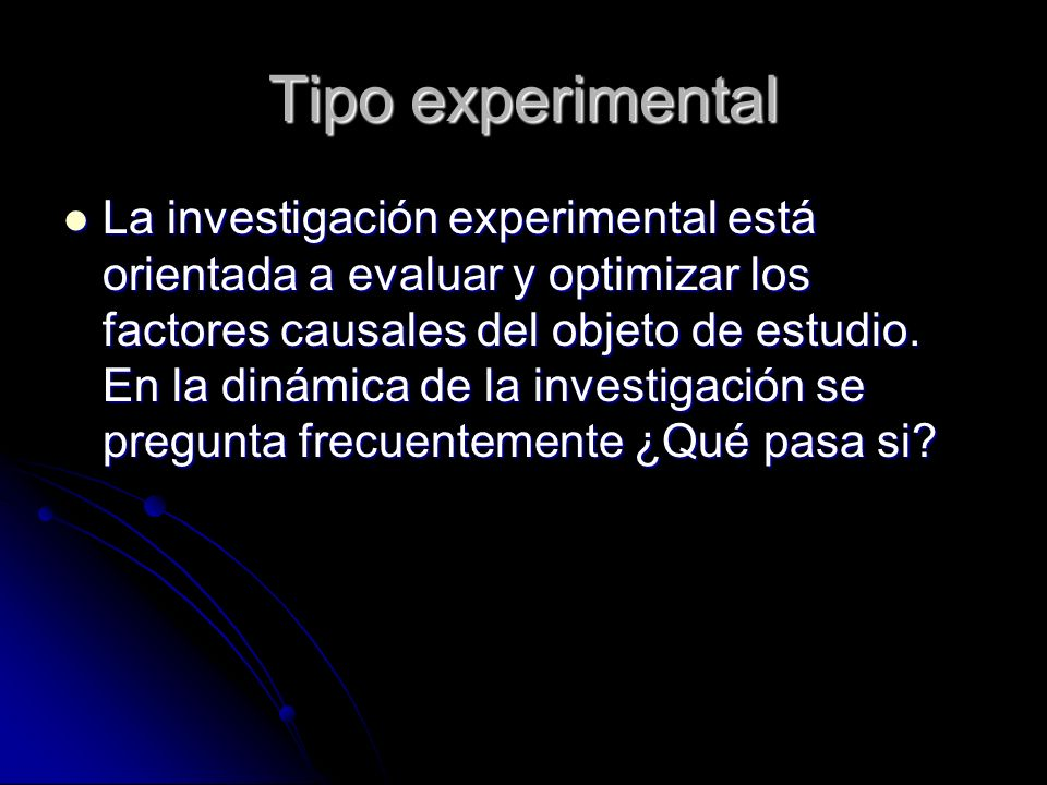 Tipo experimental