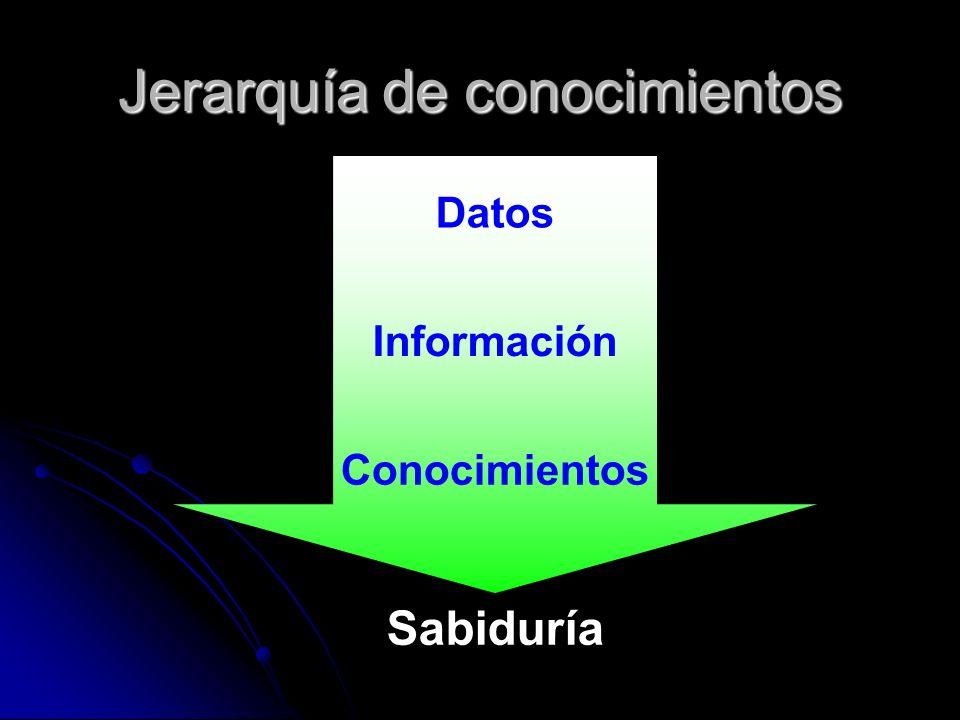 Jerarquía de conocimientos