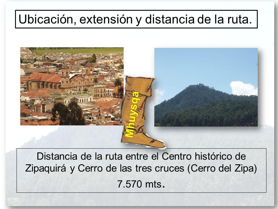 Ubicación, extensión y distancia de la ruta.