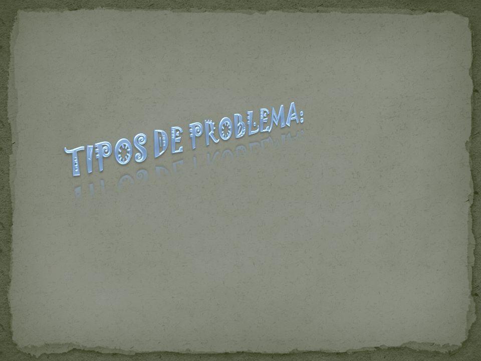 TIPOS DE PROBLEMA: