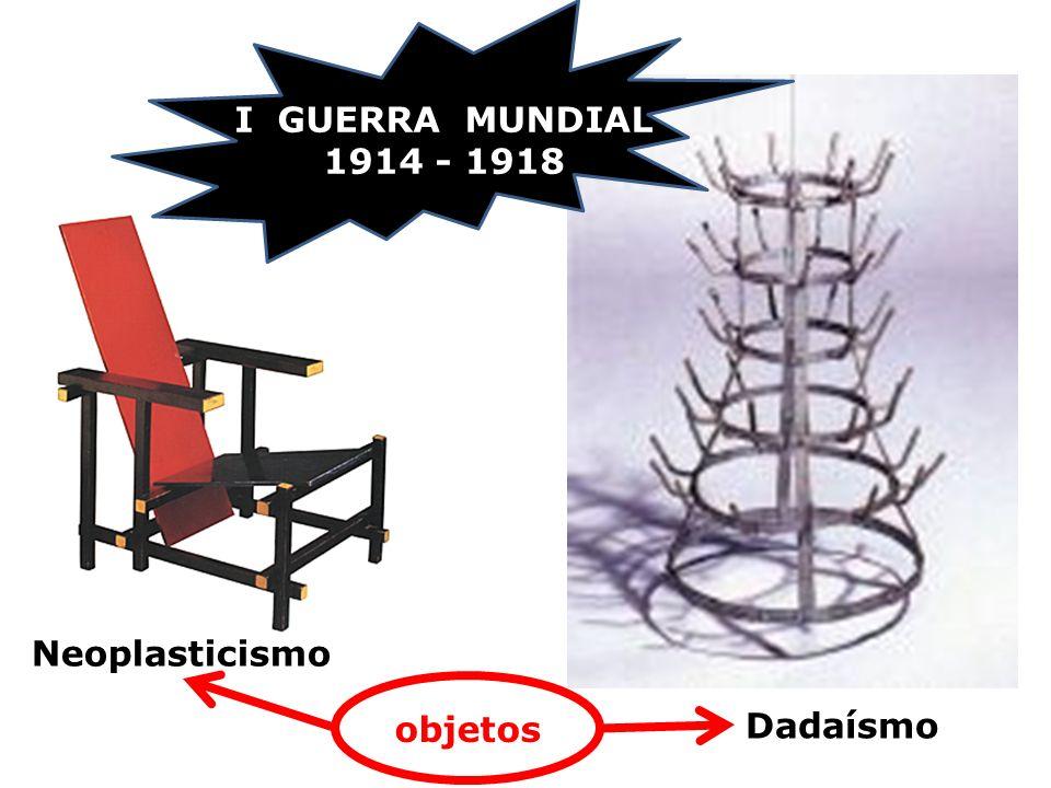 I GUERRA MUNDIAL 1914 - 1918 Neoplasticismo objetos Dadaísmo