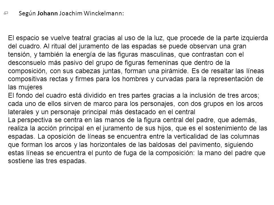 Según Johann Joachim Winckelmann: