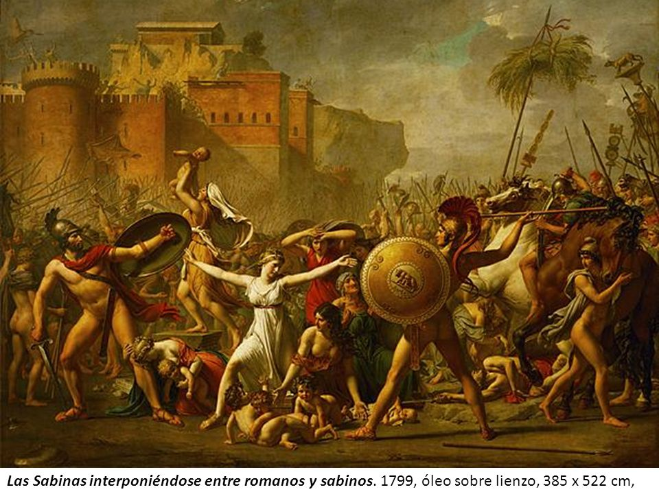 Las Sabinas interponiéndose entre romanos y sabinos