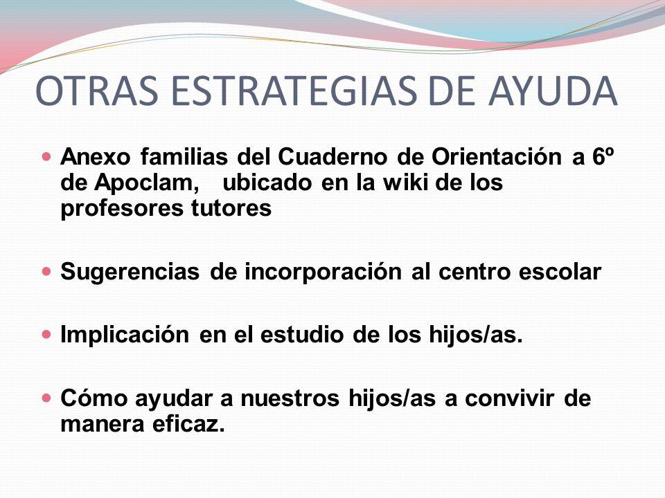 OTRAS ESTRATEGIAS DE AYUDA