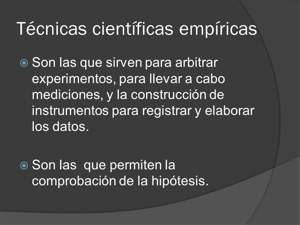 Técnicas científicas empíricas