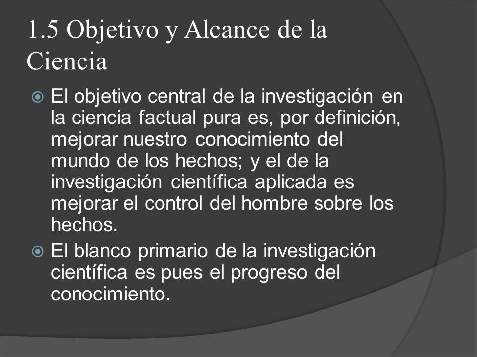1.5 Objetivo y Alcance de la Ciencia