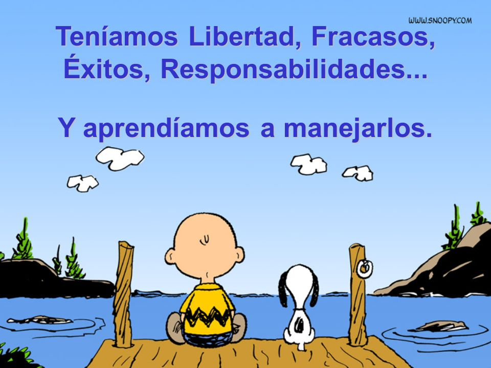 Teníamos Libertad, Fracasos, Éxitos, Responsabilidades...