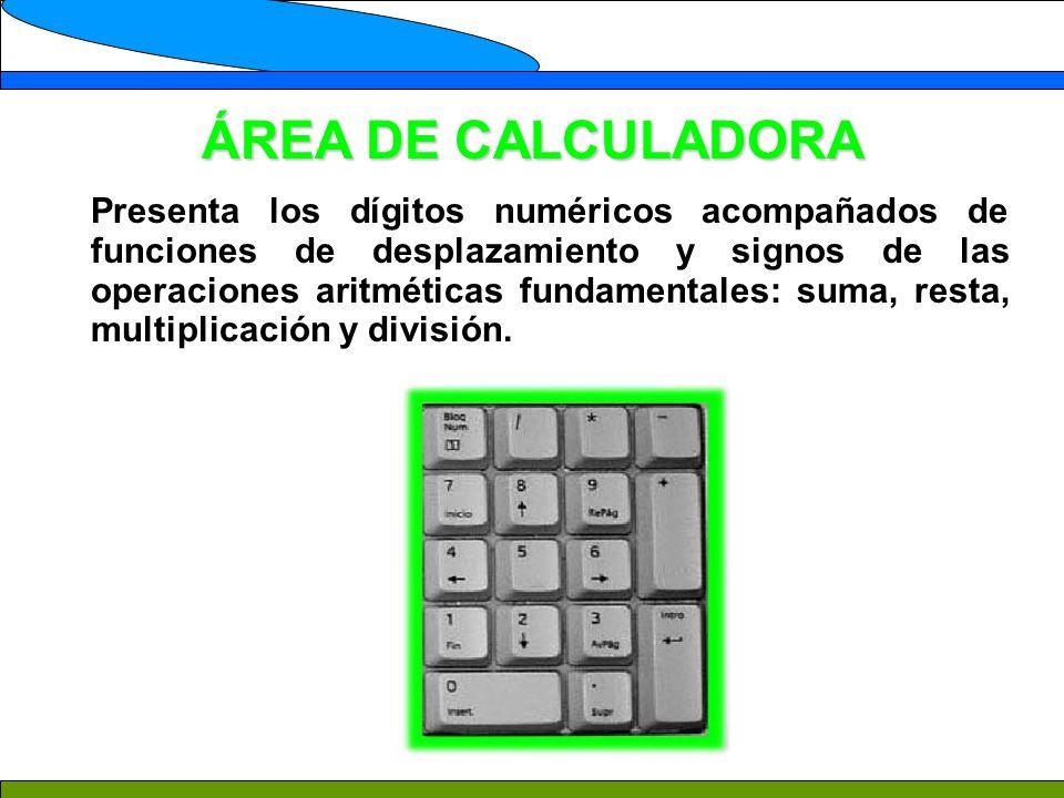 ÁREA DE CALCULADORA