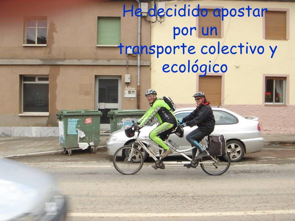 transporte colectivo y ecológico