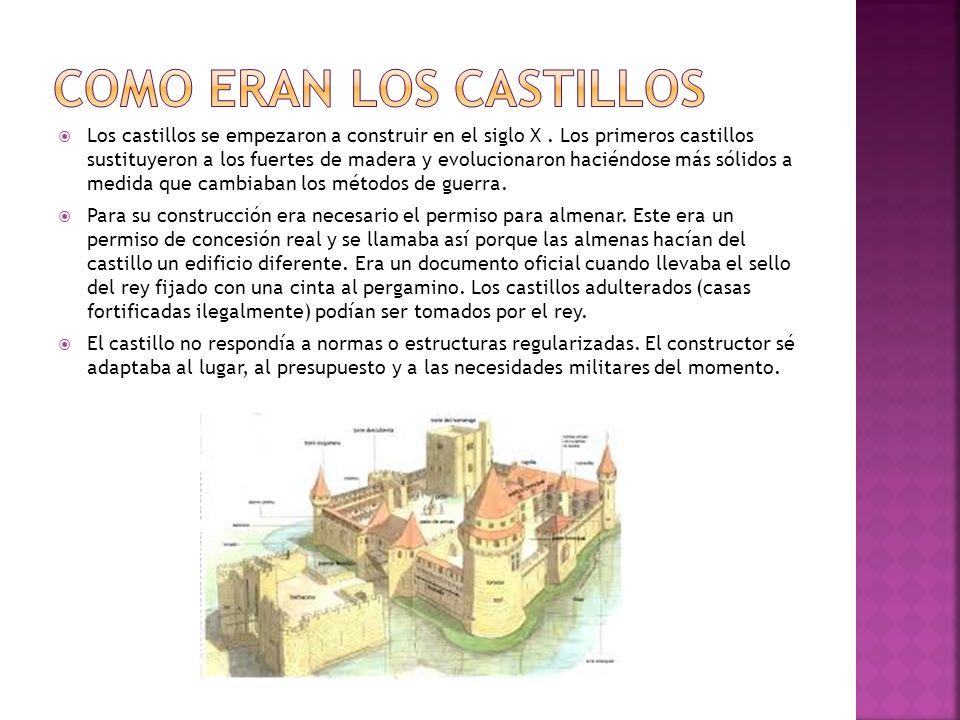 Como eran los castillos