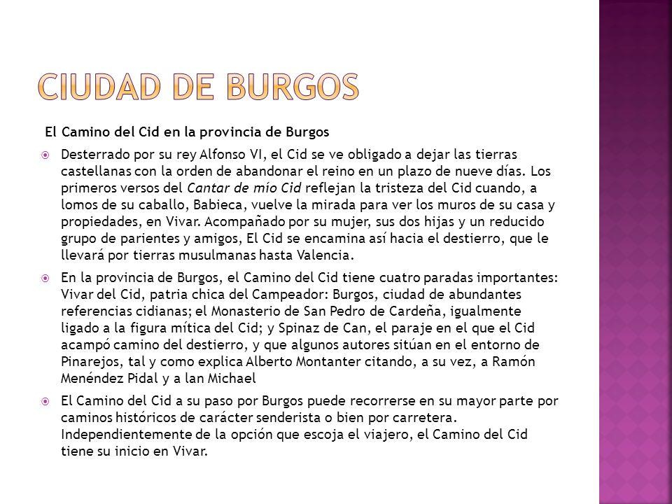 Ciudad de Burgos El Camino del Cid en la provincia de Burgos