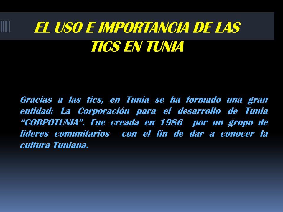EL USO E IMPORTANCIA DE LAS TICS EN TUNIA