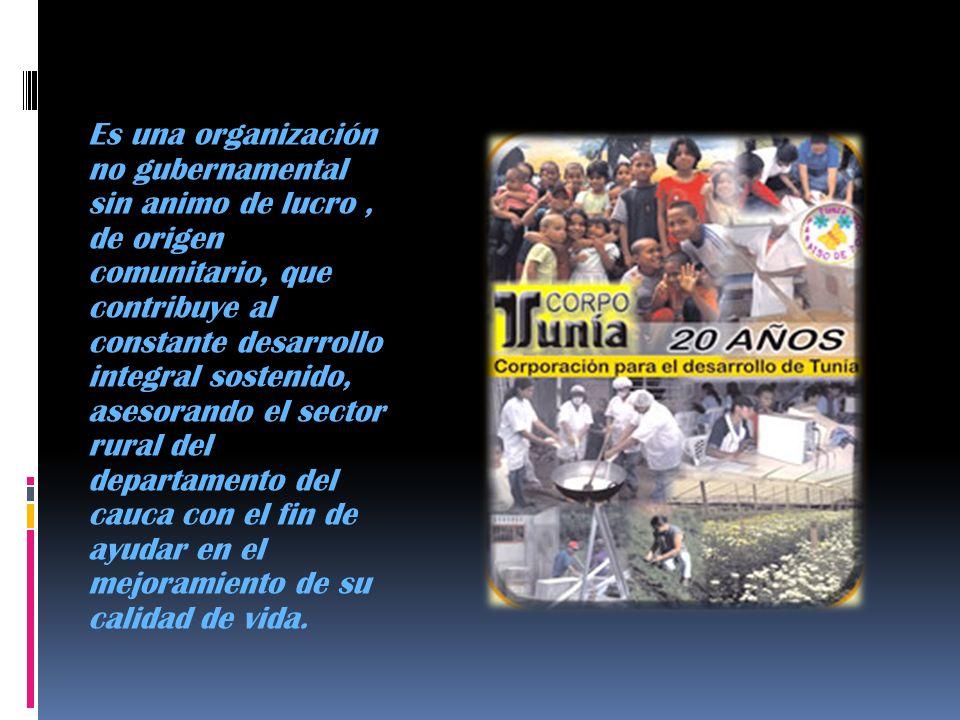 Es una organización no gubernamental sin animo de lucro , de origen comunitario, que contribuye al constante desarrollo integral sostenido, asesorando el sector rural del departamento del cauca con el fin de ayudar en el mejoramiento de su calidad de vida.